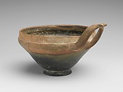 Terracotta bowl with wishbone handle