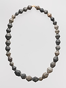 Chlorite necklace with 36 biconical beads