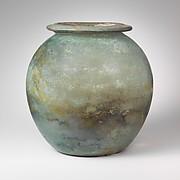 Glass cinerary urn (olla)