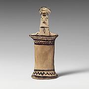Terracotta statuette of a goddess