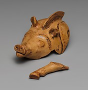 Terracotta vase in the shape of a boar