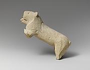 Limestone statuette of a lion