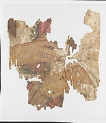 Fragment of a painted mummy shroud