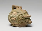 Faience aryballos (oil bottle) in the form of a hedgehog