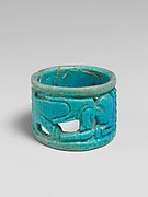 Openwork faience ring