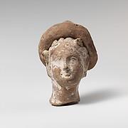 Terracotta head of a woman