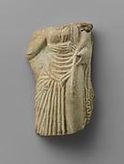 Gilt faience fragment of an oinochoe (jug)