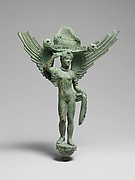 Bronze patera handle in the form of Lasa