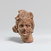 Terracotta female head