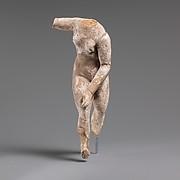Terracotta nude female statuette, perhaps Aphrodite