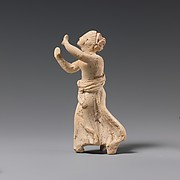 Terracotta statuette of a girl