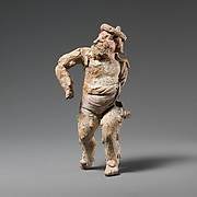 Terracotta statuette of a satyr