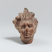 Terracotta head of a satyr
