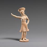 Terracotta statuette of a dancing girl