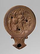 Terracotta oil lamp