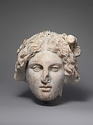 Marble head of a deity
