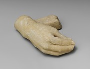 Marble right hand and wrist with a supporting strut