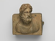 Bronze fitting decorated with a bust of Neptune