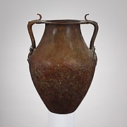 Bronze jar with two handles