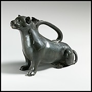 Terracotta askos in the form of a weasel