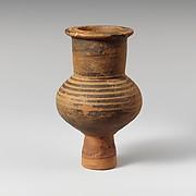 Terracotta lydion (perfume jar)