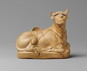 Terracotta askos (flask with a spout) in the form of a bull