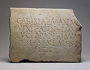 Marble funerary inscription