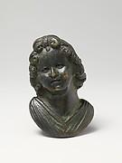 Bronze portrait bust of a boy