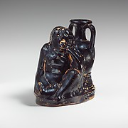 Terracotta askos (flask with a spout and handle)