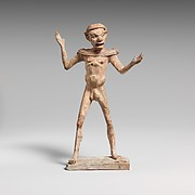 Terracotta statuette of a man