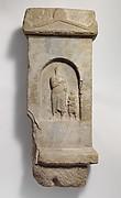 Marble grave stele of Demetrios
