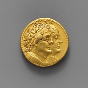 Gold oktadrachm of Ptolemy III Euergetes