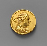 Gold oktadrachm of Ptolemy IV Philopator