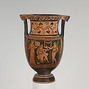Terracotta column-krater (mixing bowl)