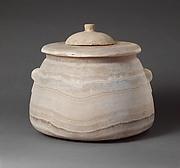 Alabaster pyxis (lidded jar)