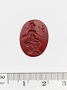 Red jasper ring stone