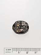 Black jasper scaraboid seal