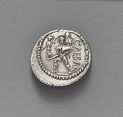 Silver denarius of Julius Caesar