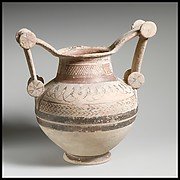 Terracotta trozella (two-handled jar)