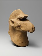 Terracotta head of a horse