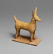 Terracotta statuette of a deer