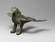 Bronze statuette of a bird of prey