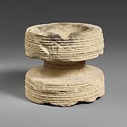 Circular limestone incense burner