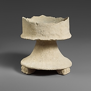Limestone incense burner on three legs