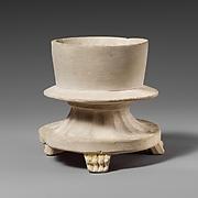 Limestone incense burner on three legs