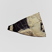 Glass cameo plaque fragment