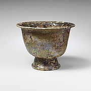 Glass footed cup