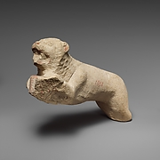 Limestone lion from a statue of Herakles (?)