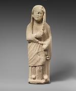 Limestone statuette of a female votary