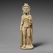 Limestone statuette of Pan